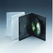 14MM三碟带单夹片透明DVD盒