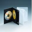 14MM三碟带双夹片透明DVD盒
