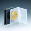 14MM四碟带双夹片黑色DVD盒