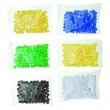 Farbige Kunststoff-Kügelchen