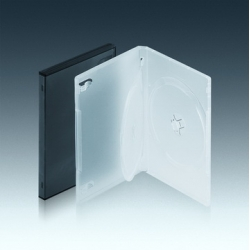 14MM双碟带夹片透明DVD盒