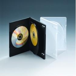 14MM三碟带双夹片黑色DVD盒