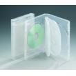 22MM6碟带夹片光面透明DVD盒