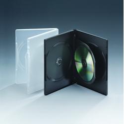 14MM三碟带单夹片黑色DVD盒