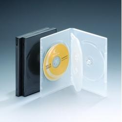 14MM四碟带双夹片透明DVD盒