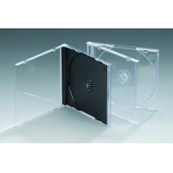 10.4MM单碟透明底CD盒